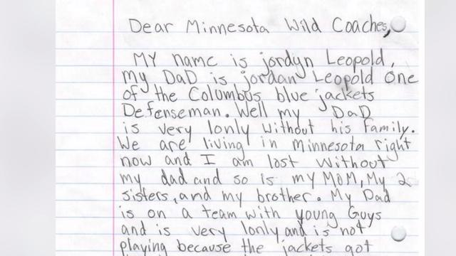 11 year-old's letter to NHL team asks to trade her dad