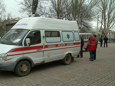 Raw: Ukraine says mine blast traps dozens