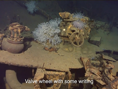 Raw: Sunken Japanese WWII battleship found