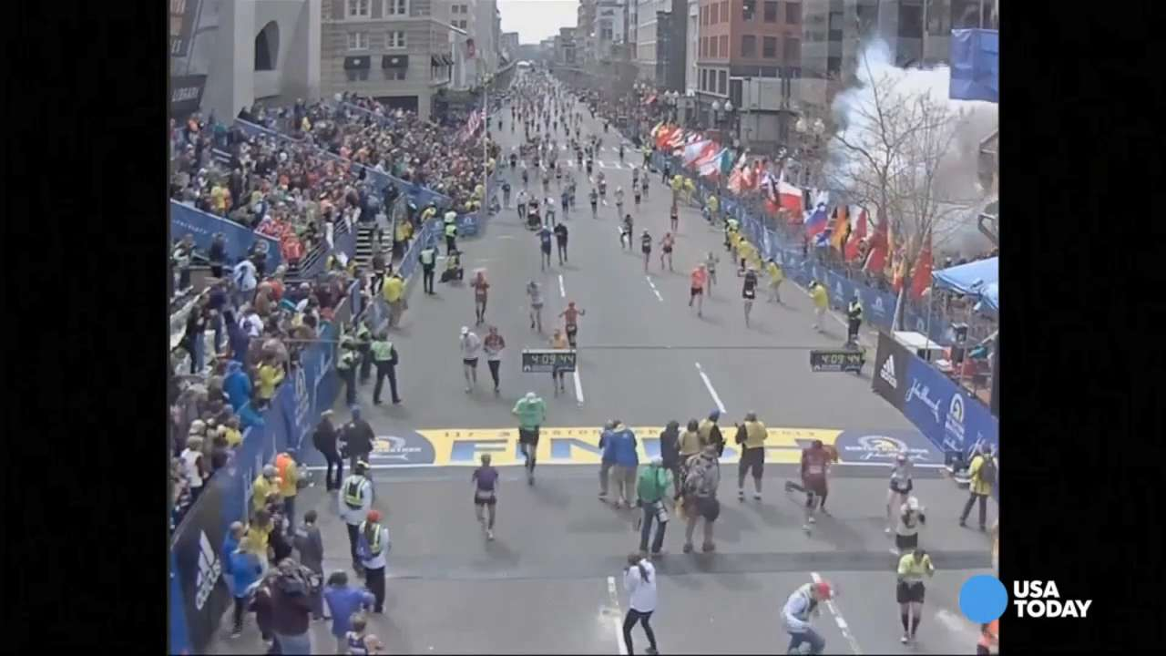 New video of Boston Marathon bombing shown at trial