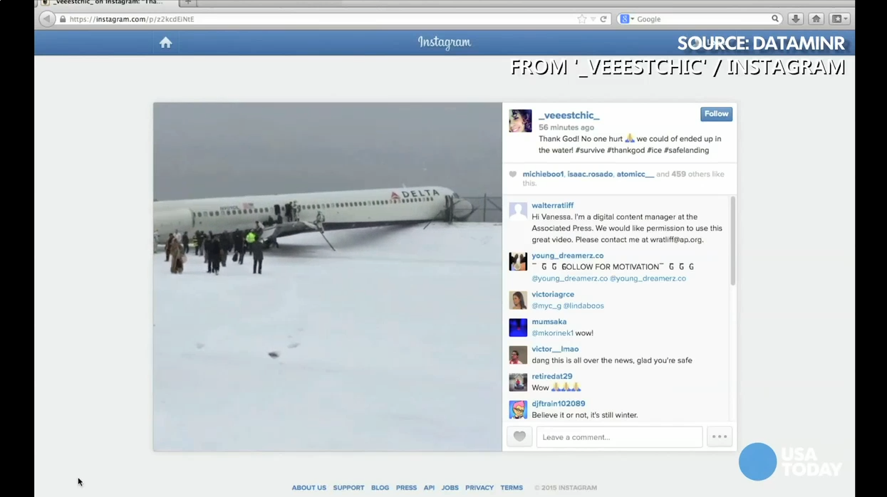Watch passengers exit Delta plane that skid off runway