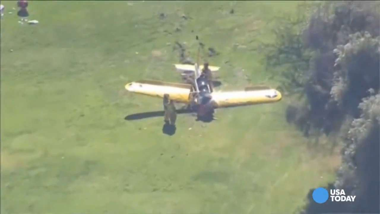 See, hear chaos surrounding Harrison Ford plane crash
