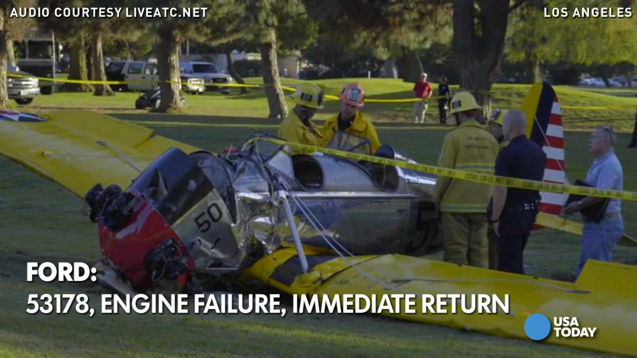 Harrison Ford banged up after small plane crashes on L.A