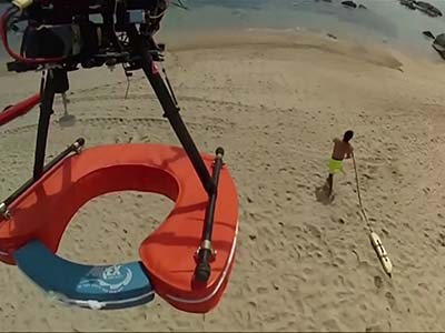 Raw: drones to help beach lifeguards in Chile