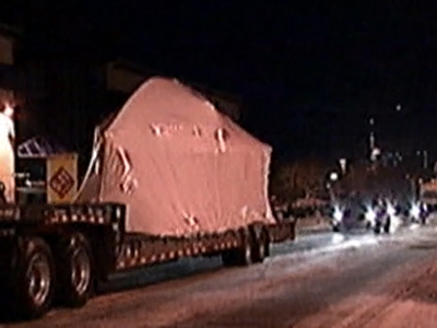 Raw: Boston bomber's hideaway boat moved