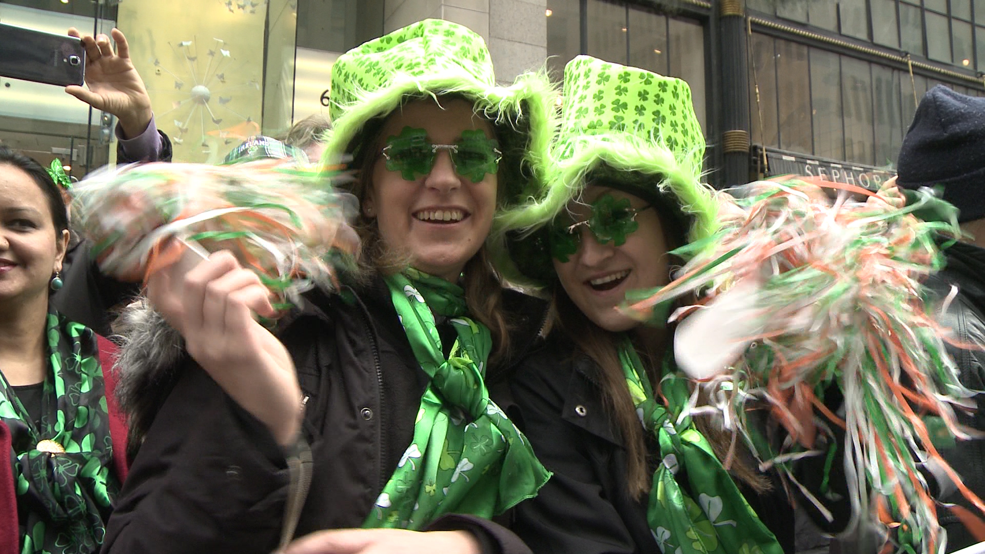 Crazy outfits at the New York City St. Patrick's Day Parade