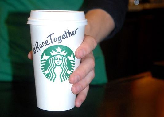 Starbucks' '#RaceTogether' initiative gets mixed tastes