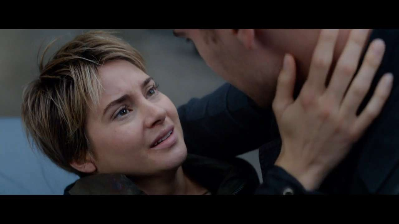 "Theo James and Shailene Woodley in a scene from the motion picture ""The Divergent Series: Insurgent."""