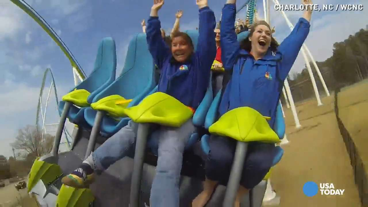 Take a furious ride on 'Fury 325' roller coaster