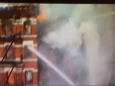 Raw: NYC building collapse caught on camera