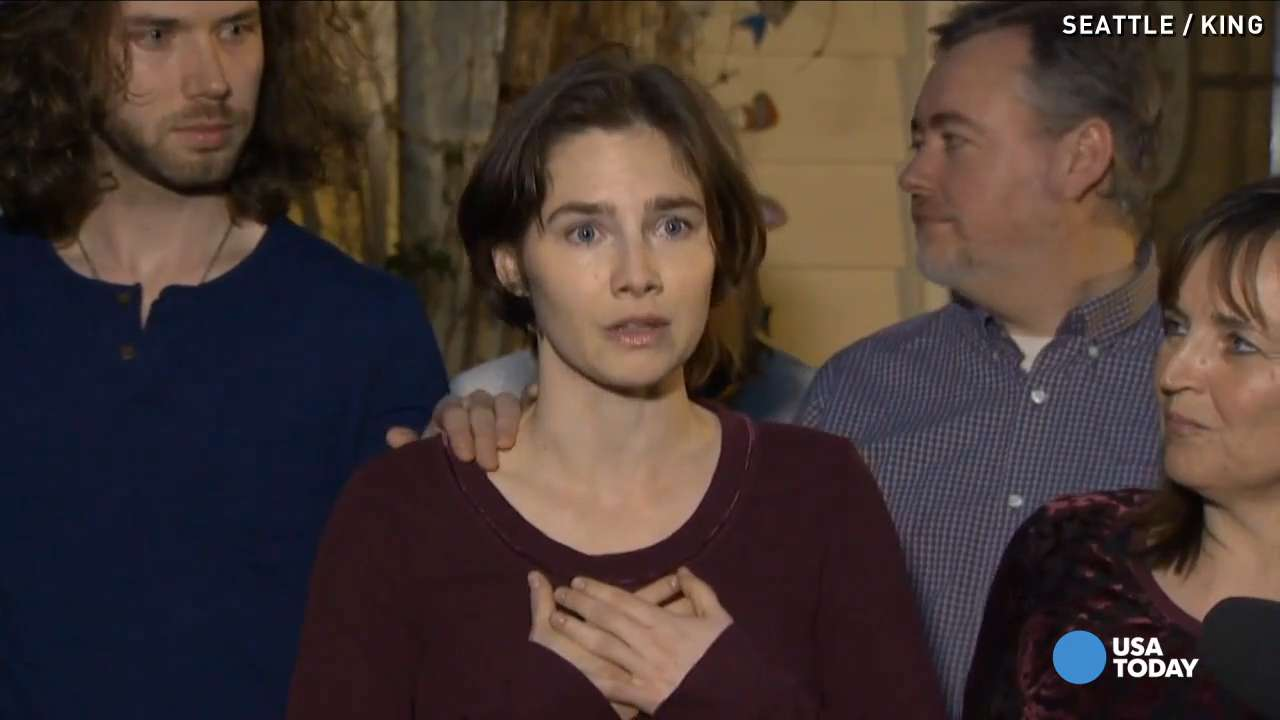 Cheers ring out from Amanda Knox's home after verdict