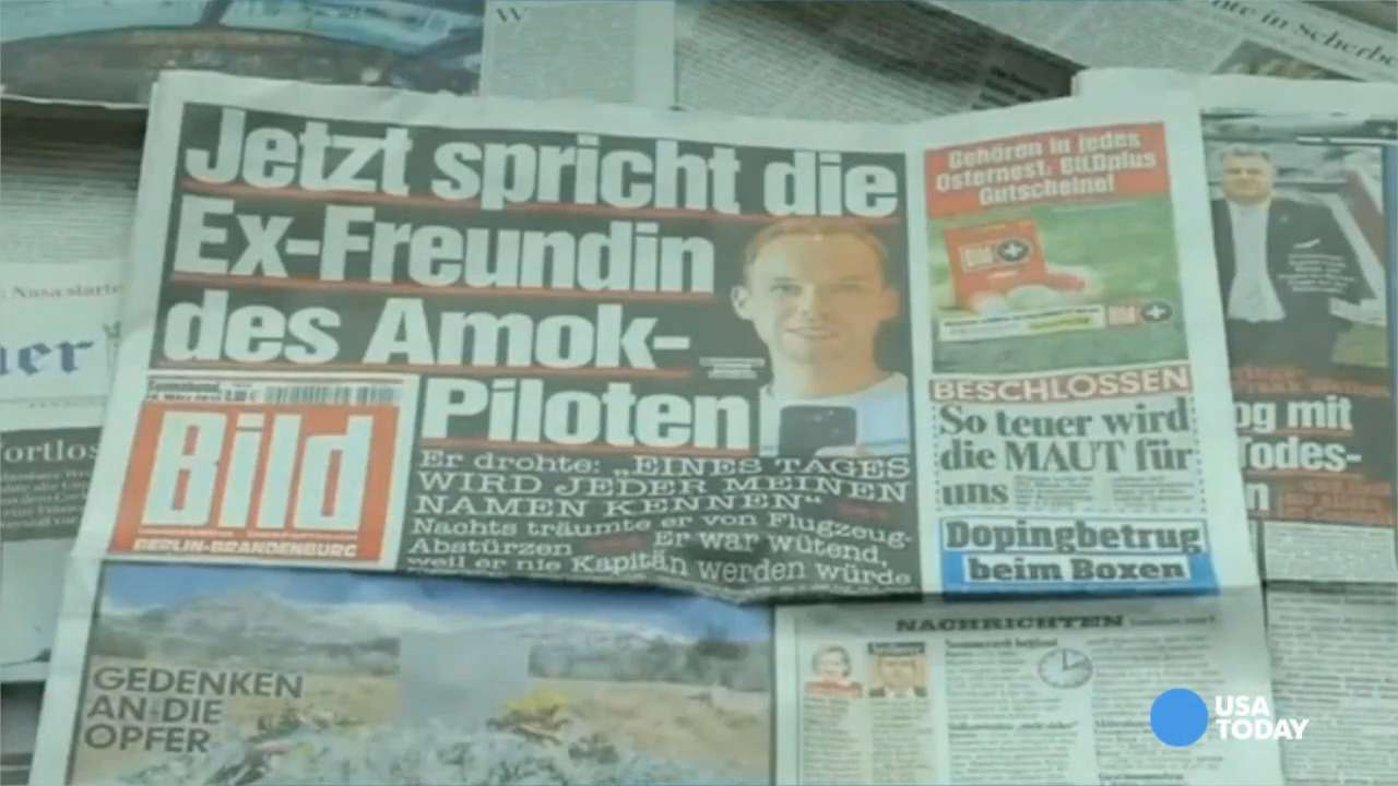 Co-pilot vowed to 'do something' ex tells German media
