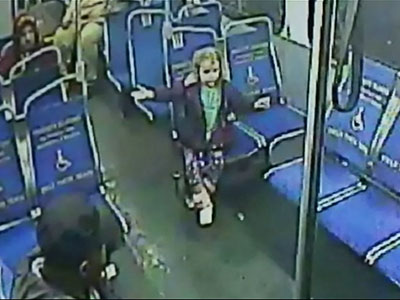 4-year-old hops on overnight bus solo for snack