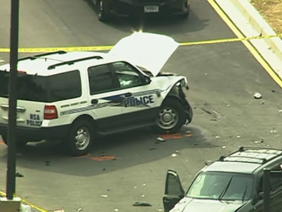 Raw: 2 injured after incident at Fort Meade gate