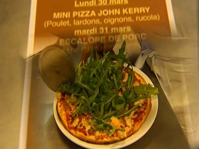 Swiss restaurant offers John Kerry pizza