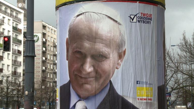 Saint John Paul II cast as poster-boy for Polish unity