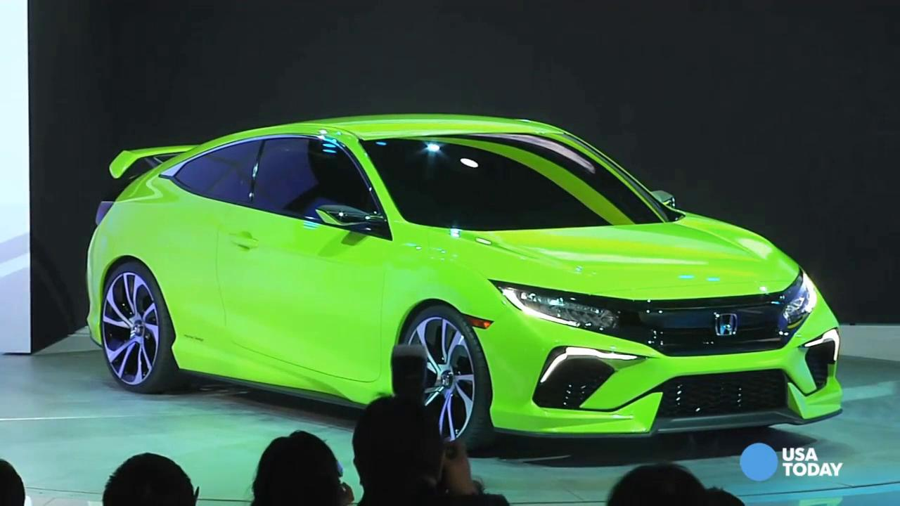 honda unveils lime green honda civic at ny auto show
