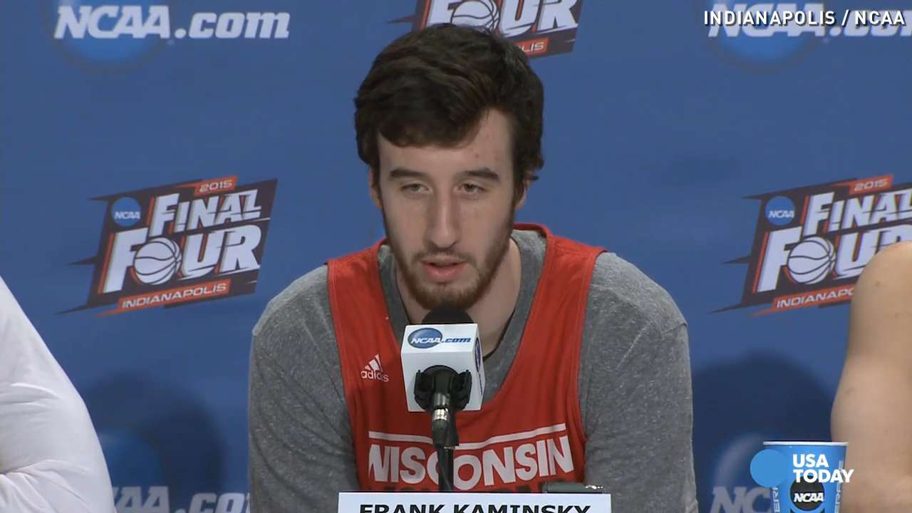 Wisconsin's Kaminsky reacts to slur by Kentucky's Harrison