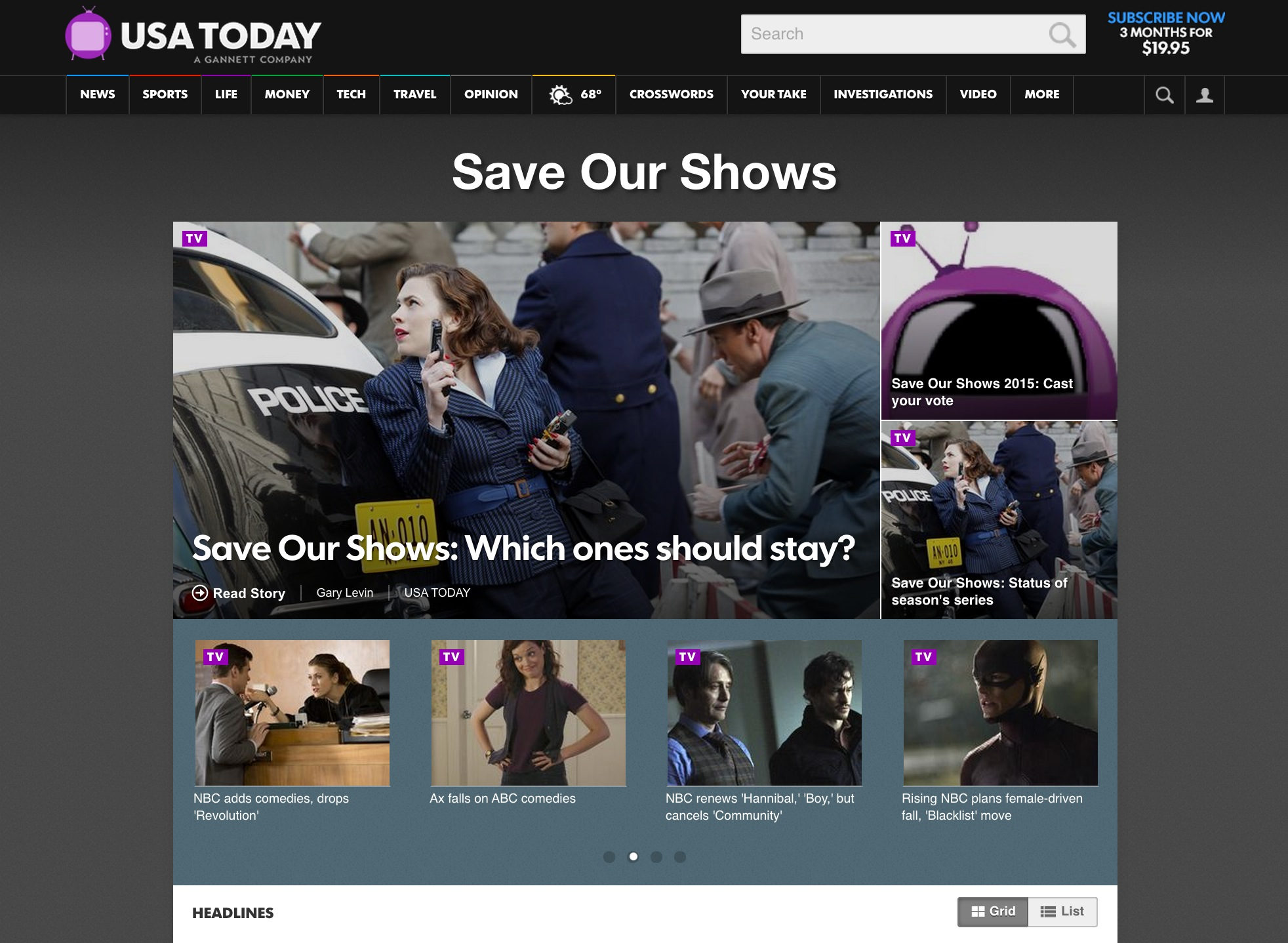 "USA TODAY's ""Save Our Shows"""