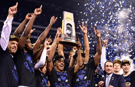 Duke reacts to NCAA championship victory
