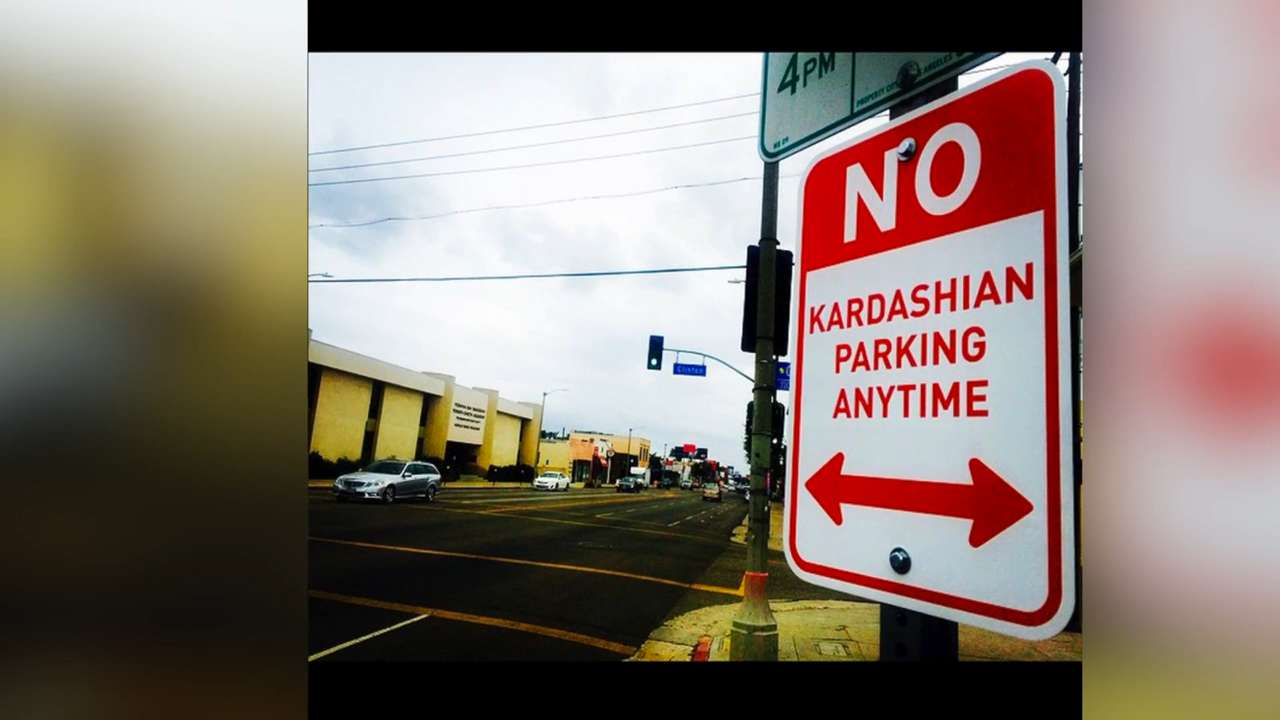 'No Kardashian Parking' signs go up in L.A.