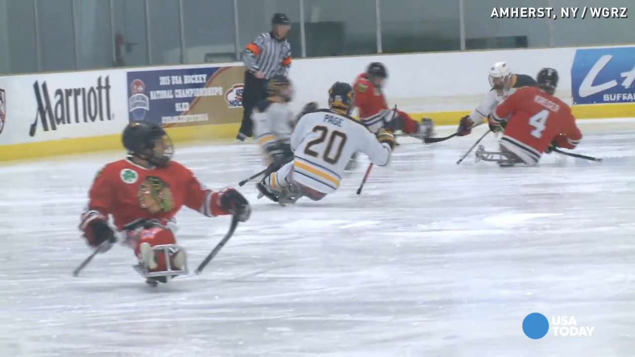 Sled hockey athletes overcome challenge, aim for gold