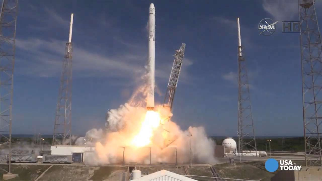 Check out the SpaceX Falcon 9 rocket launch towards ISS