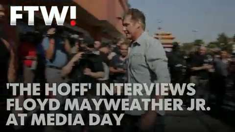 David Hasselhoff interviews Floyd Mayweather
