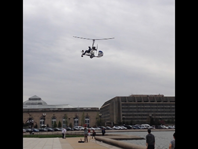 Exclusive video shows gyrocopter landing on Capitol lawn