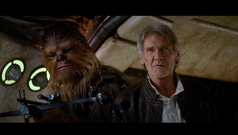 "The trailer for ""Star Wars: The Force Awakens."""