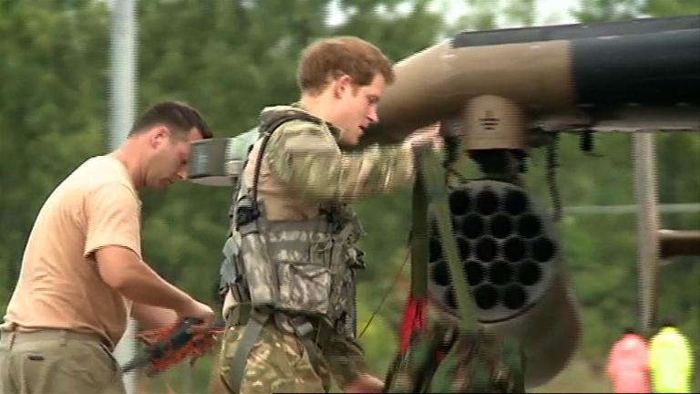 Prince Harry gets airborne and into Australia's outback