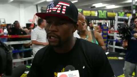 USA TODAY Sports goes behind the scenes for more interview access on the upcoming fight.