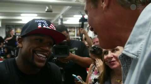 """The Hoff"" interviews Floyd Mayweather Jr."