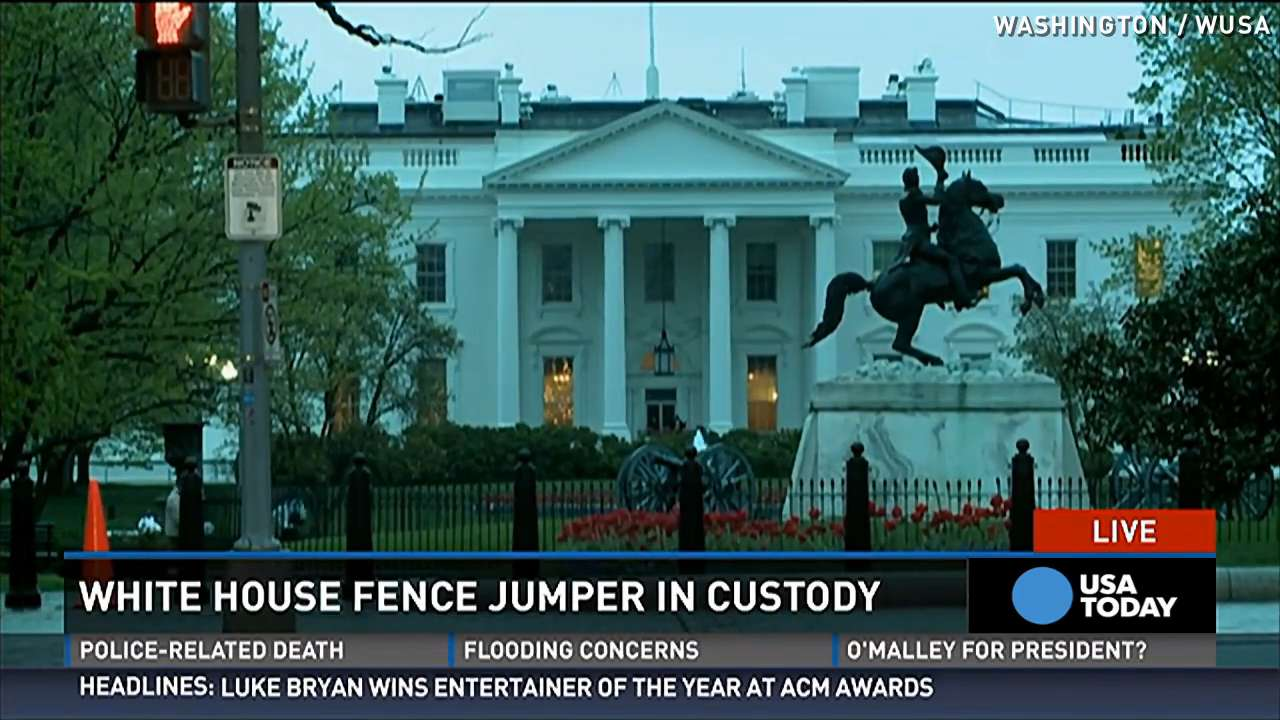 First White House Fence Jumper White House Fence Jumpers Have