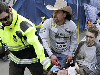 Iconic cowboy bombing survivor reflects on race