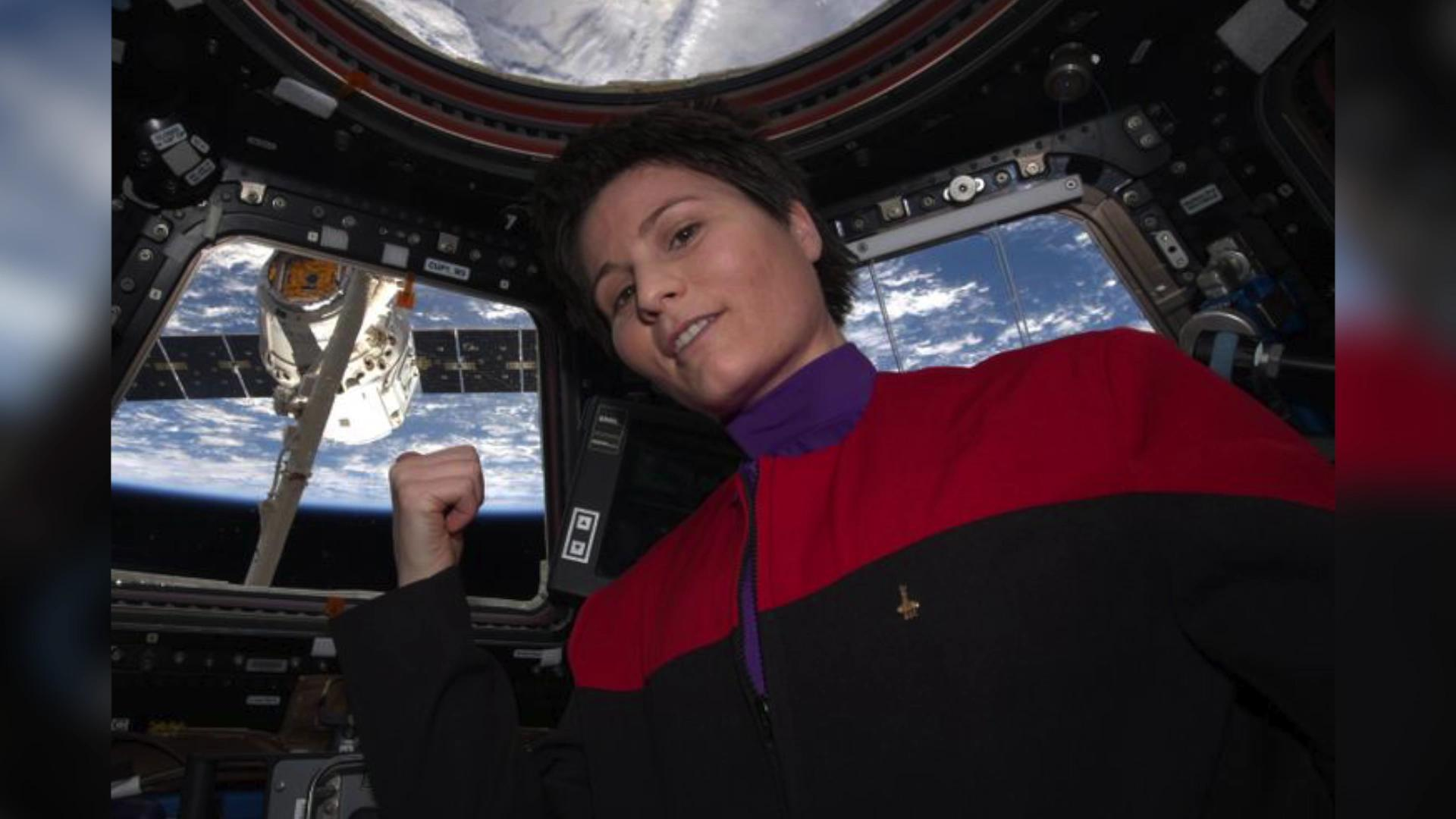 Astronaut Dons Star Trek Uniform On International Space
