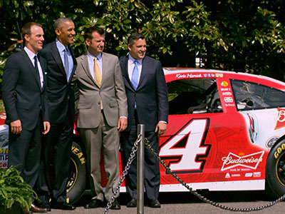 Obama honors NASCAR champ at White House