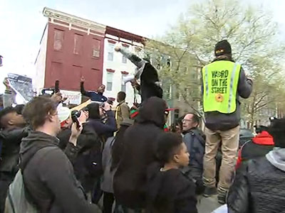 Raw: Protesters demand justice for Maryland man