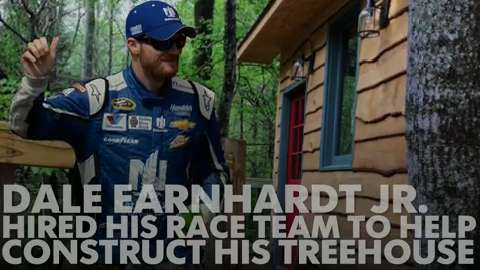 Dale Earnhardt Jr. built a giant treehouse in his yard