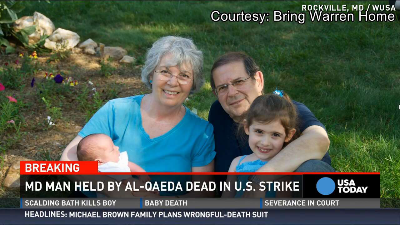 Maryland man 1 of 2 al-Qaeda hostages killed by drone