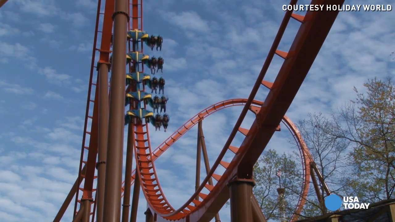 Raw: New Thunderbird coaster keeps riders screaming