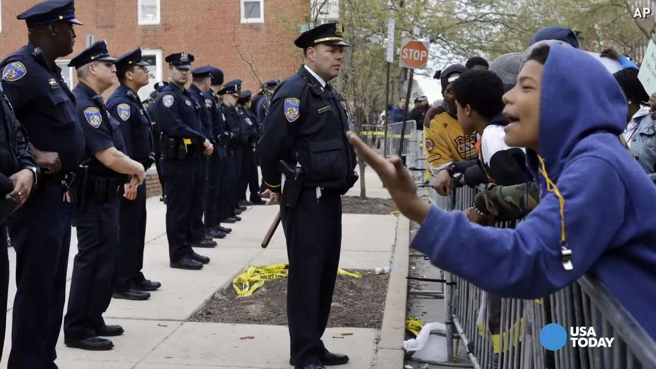 Freddie Gray protesters arrested in Baltimore