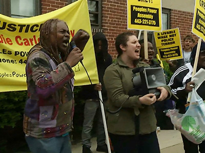 Crowds gather for Baltimore protest