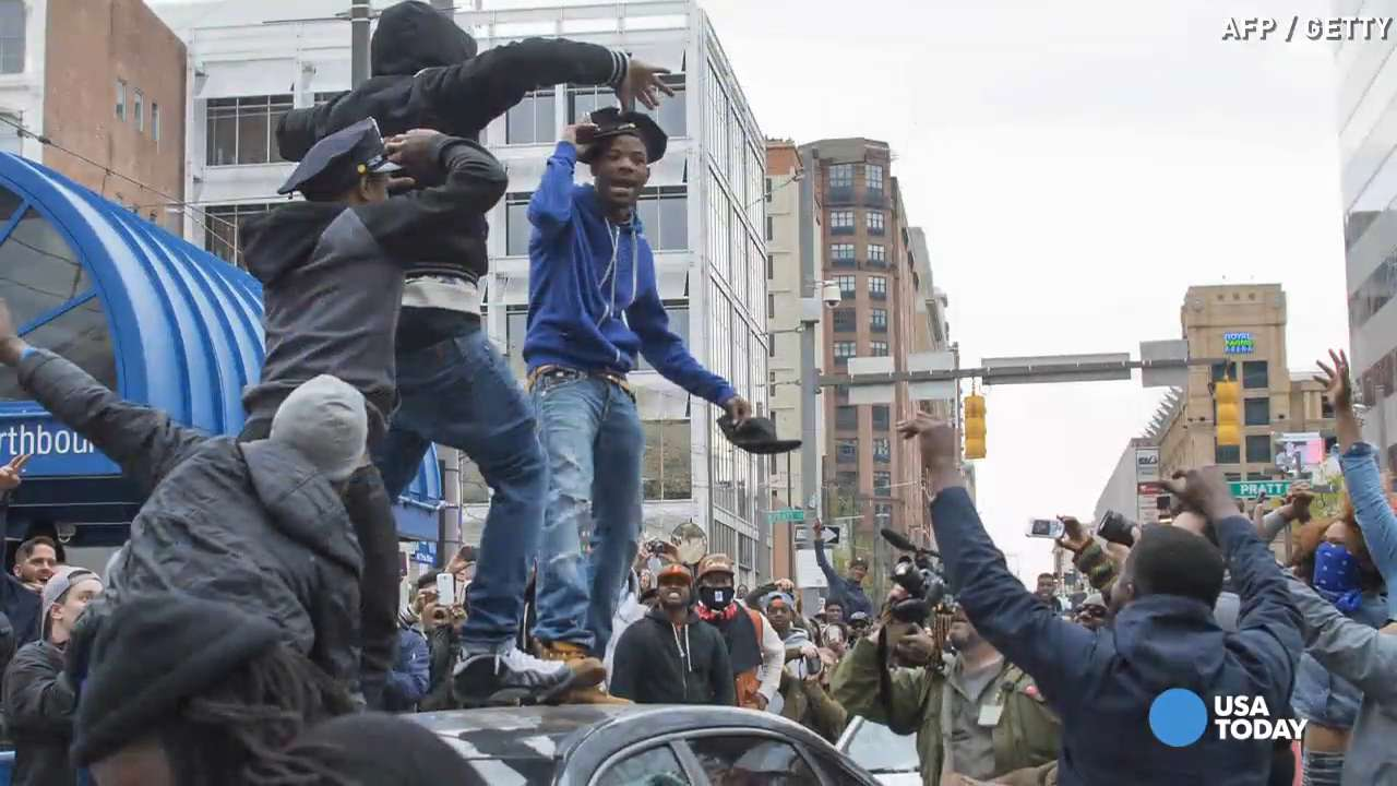 Baltimore police say FREDDIE GRAY protest turns destructive