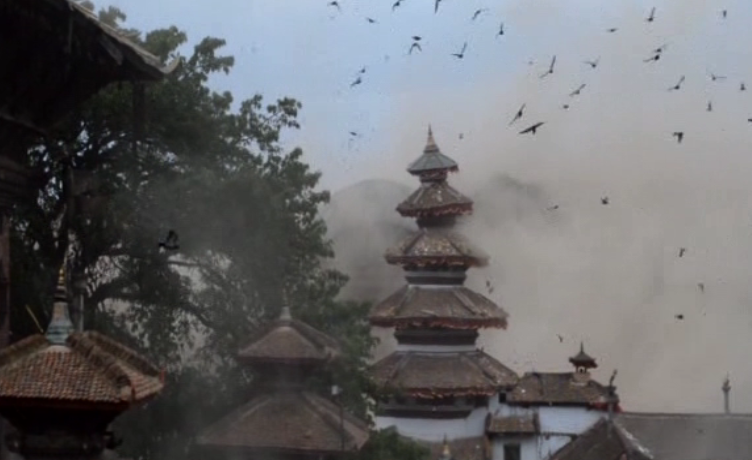 Watch the moment the earthquake hits Katmandu