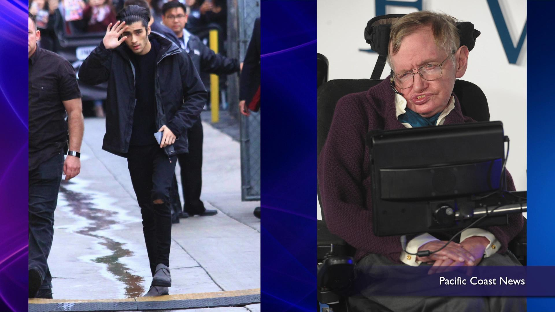 Stephen Hawking says Zayn Malik is still in 1D