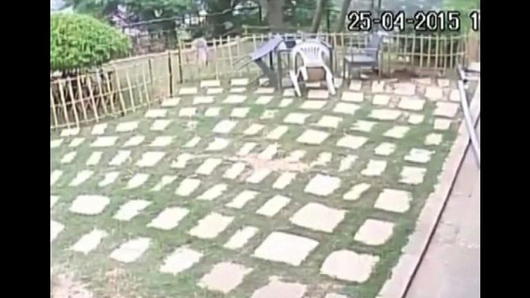 CCTV footage of the moment when quake hit Nepal