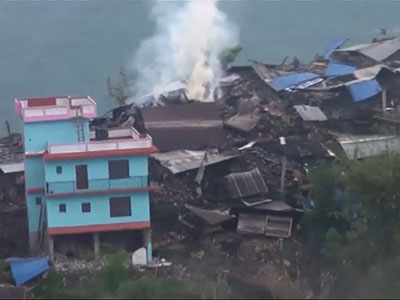 Raw: Homes in ruins after deadly Nepal quake