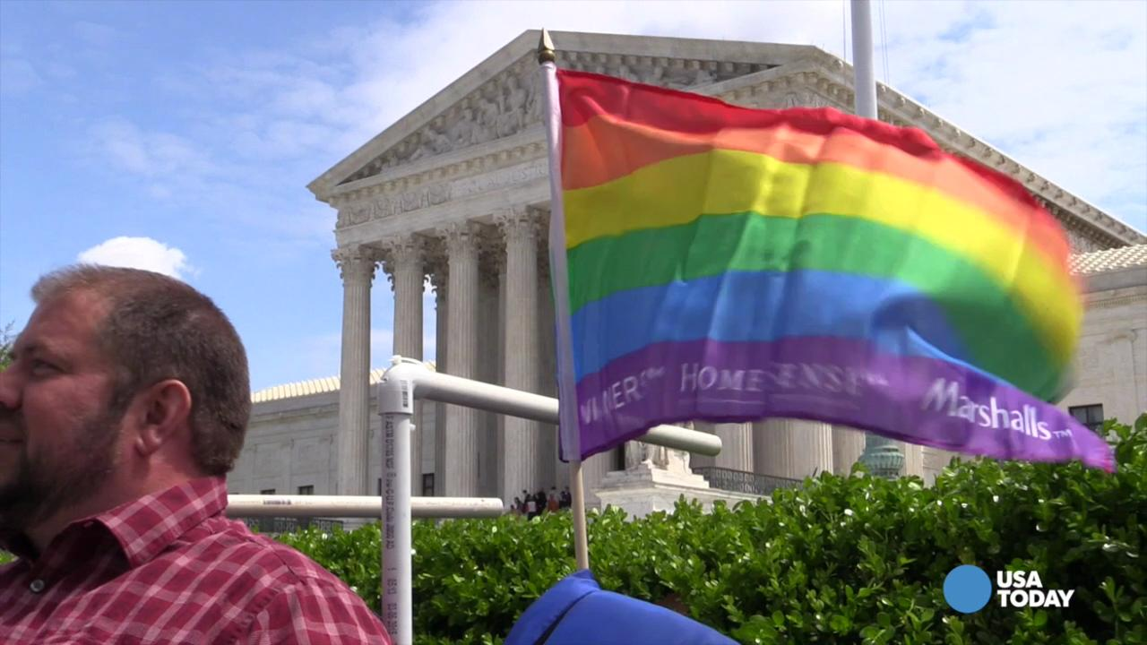 People line up for Supreme Court gay marriage case