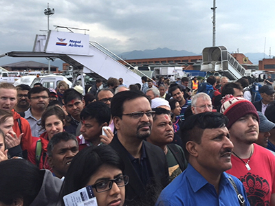 Travelers experience Nepal earthquake